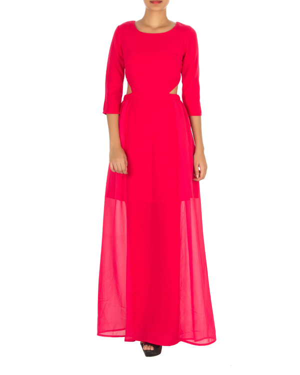 Haley cut out maxi pink