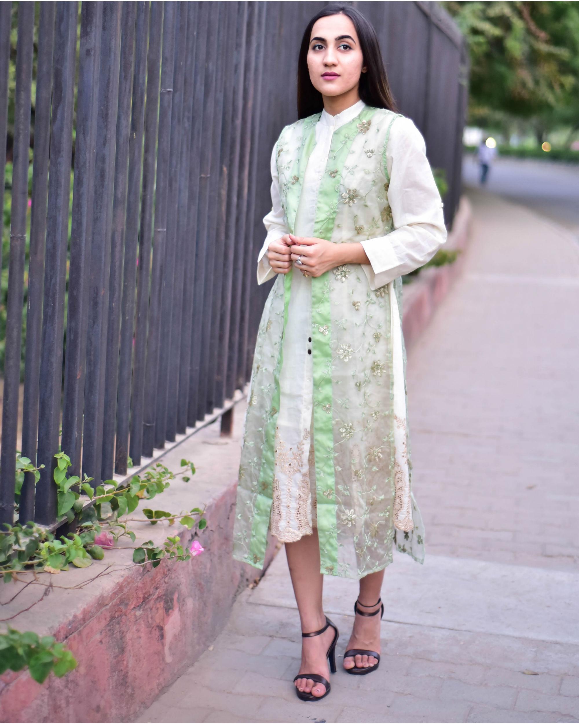 Organza cape dress