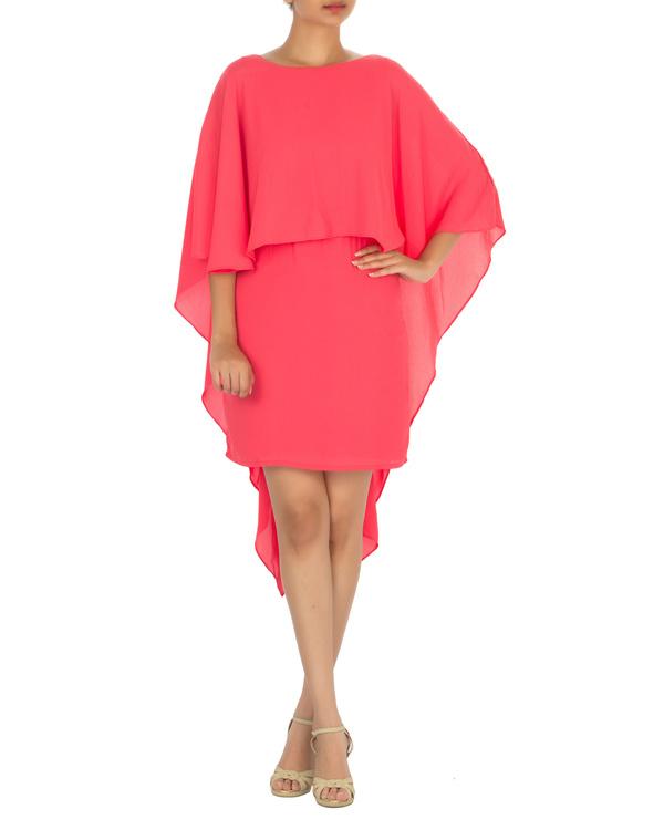 Ariel cape dress pink