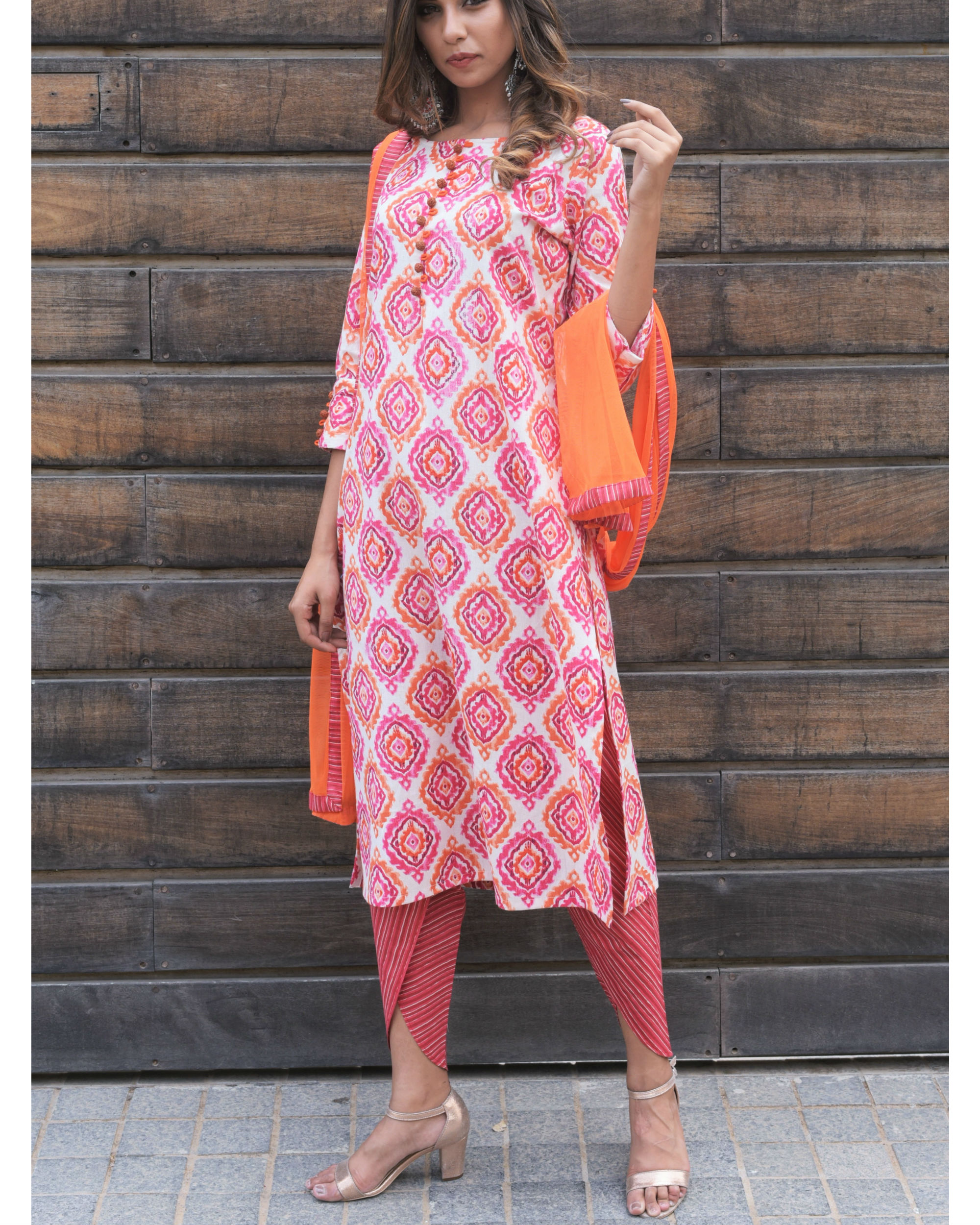 3472ebdff1 Pink dhoti set by The Home Affair | The Secret Label