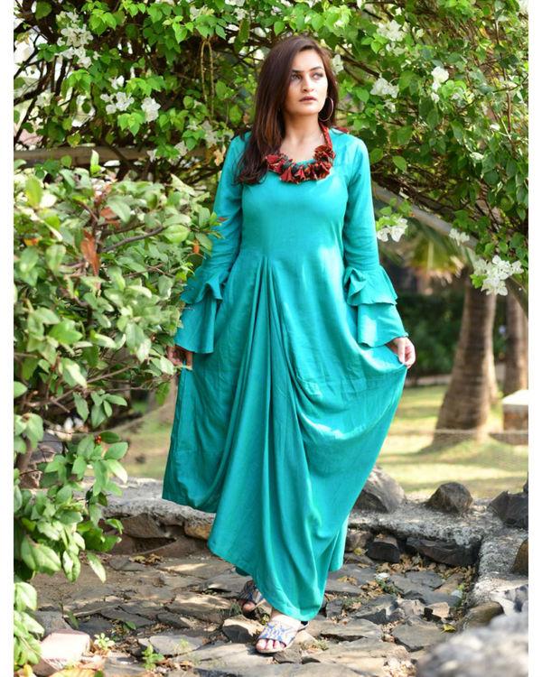 Green Layered Maxi Dress