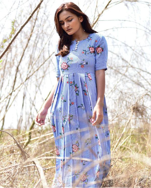 Blue floral Printed Maxi