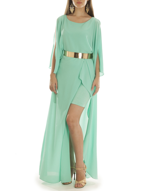 Turquoise Grace Draped Dress