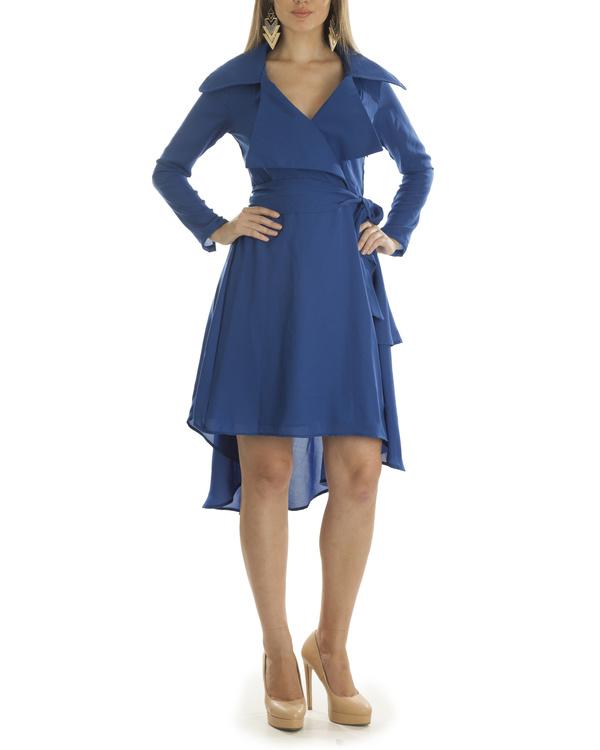 Olivia blue coat dress