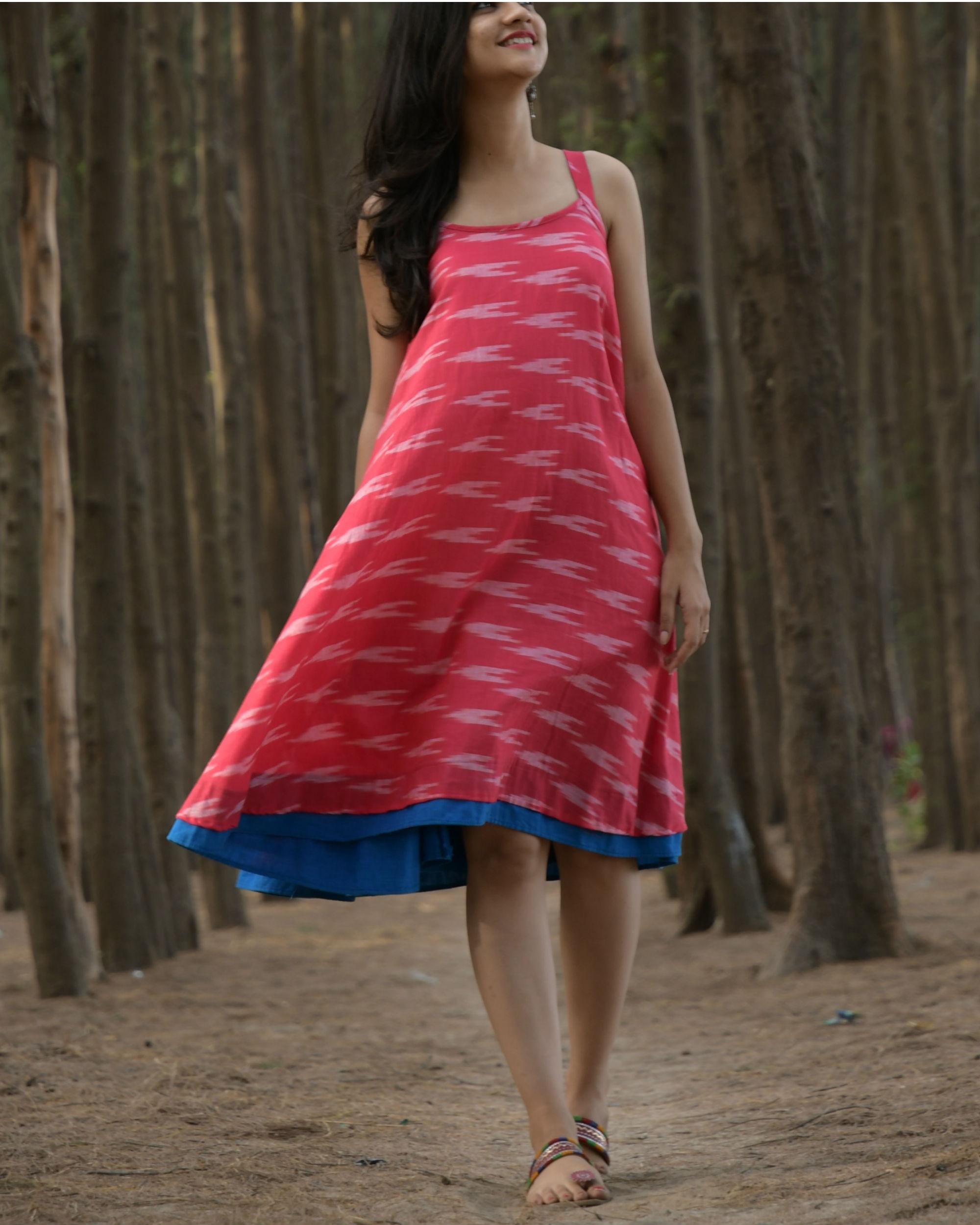 Pink swing dress