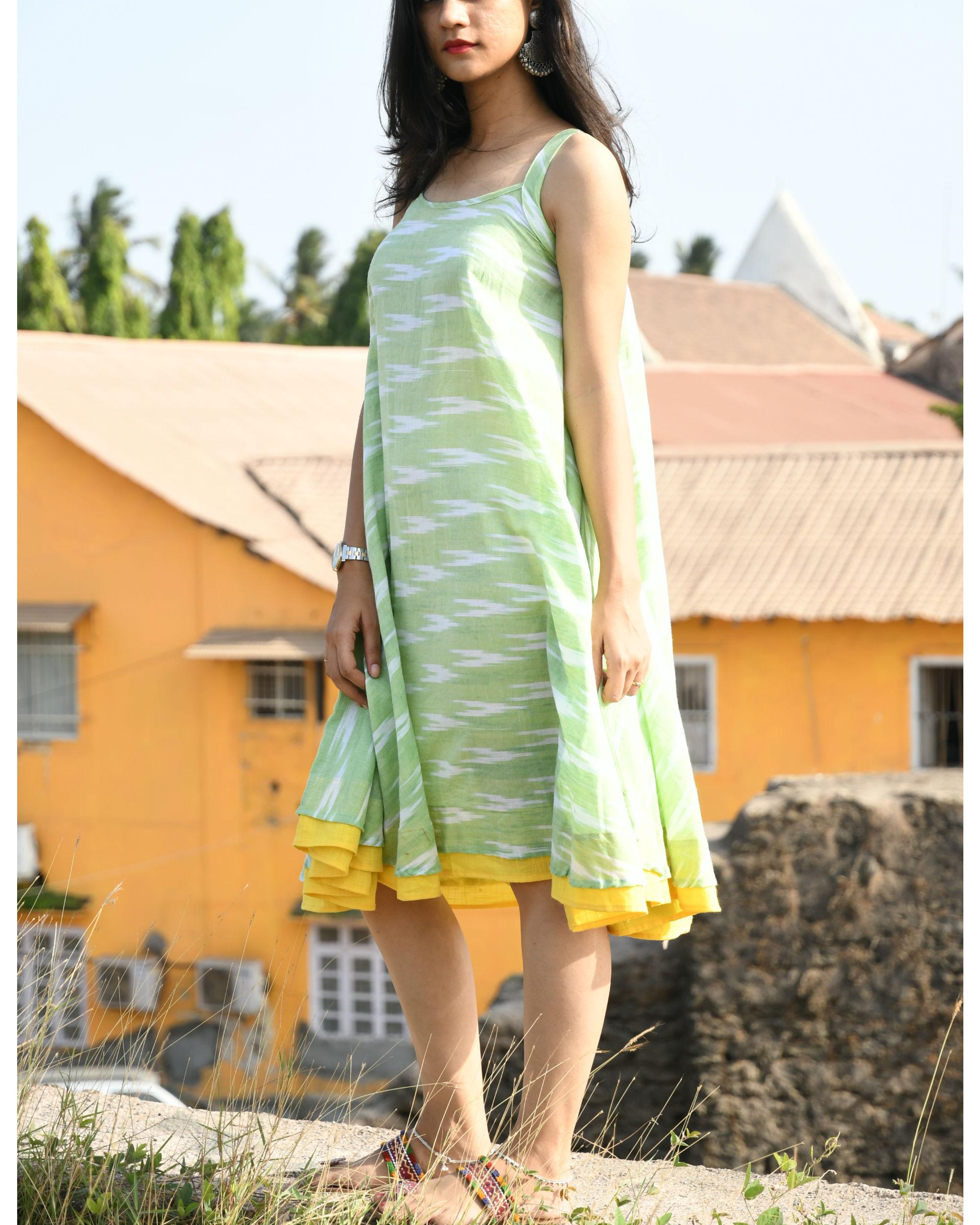 Pastel green swing dress