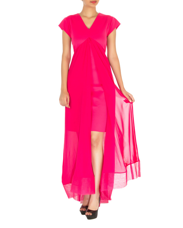 Two panelled pink gown