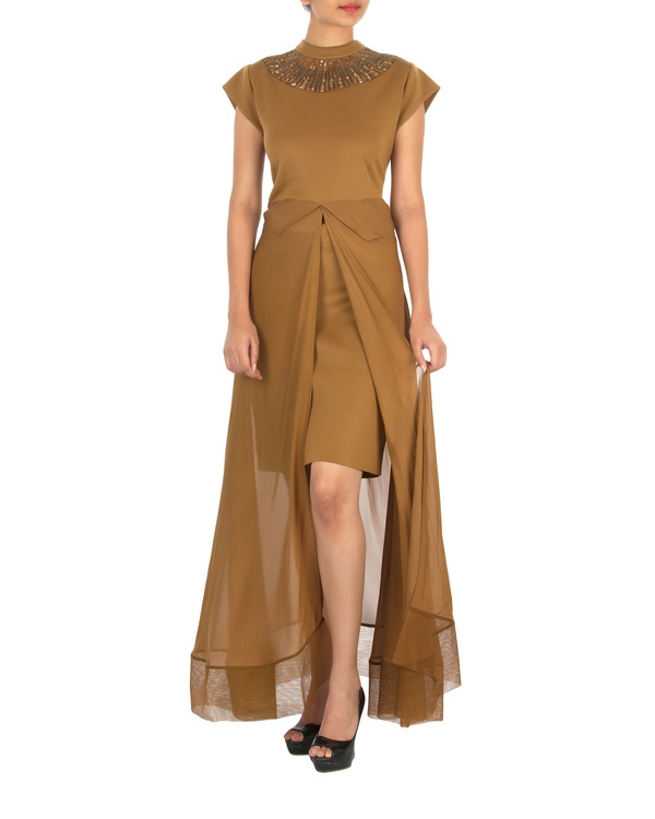 Two panelled brown gown