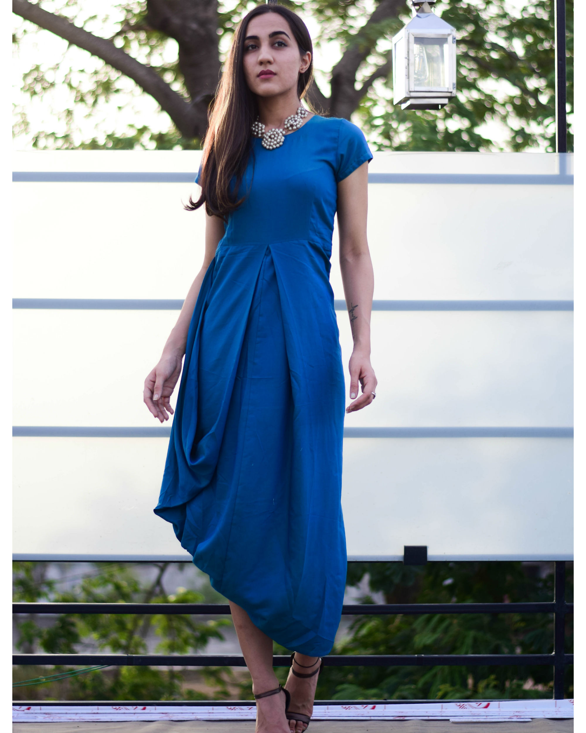 Azura cowl dress