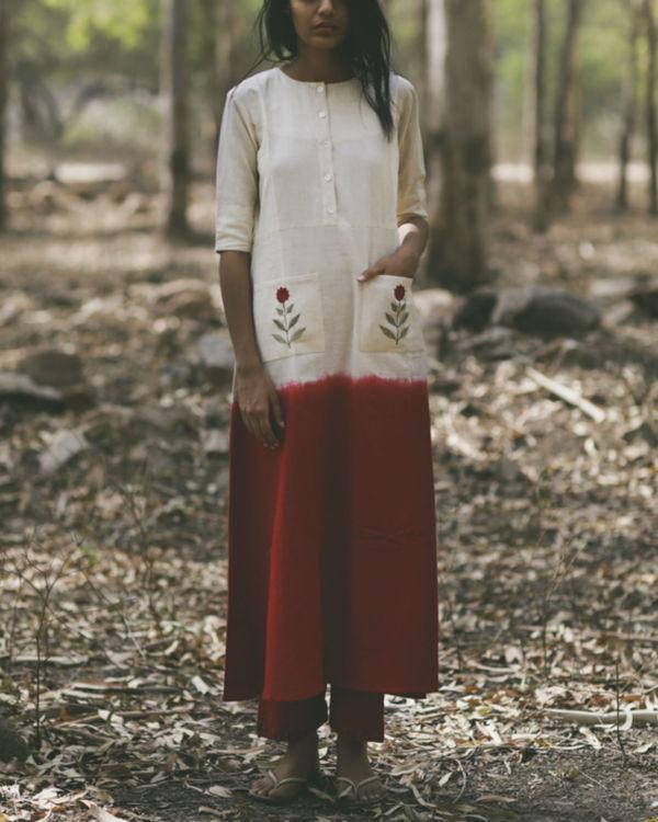 Red Mogra Pocket Dress