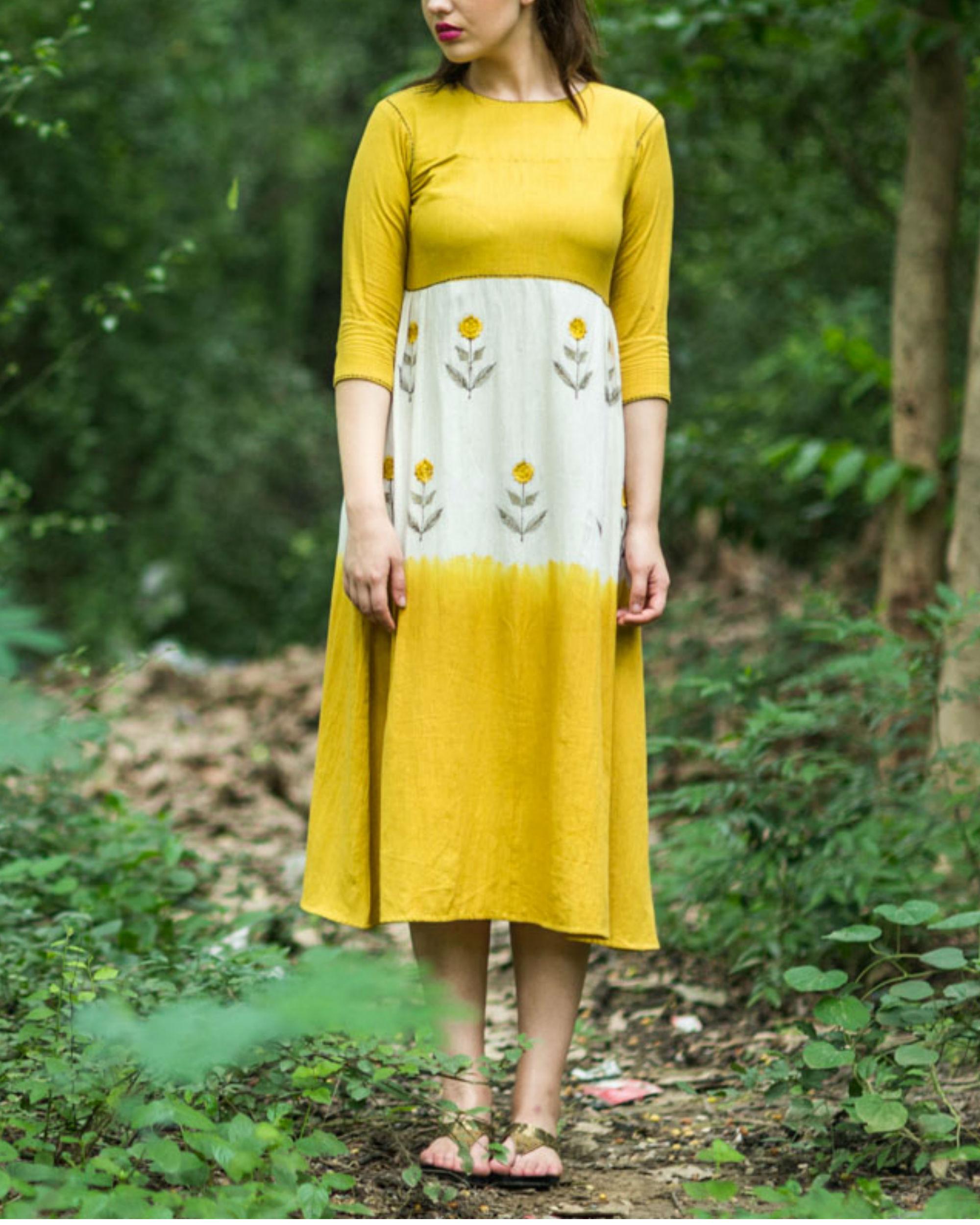 Mustard Ivory Swing Dress