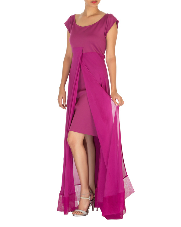 Three panelled purple gown