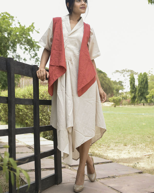 Red and ivory fly maxi