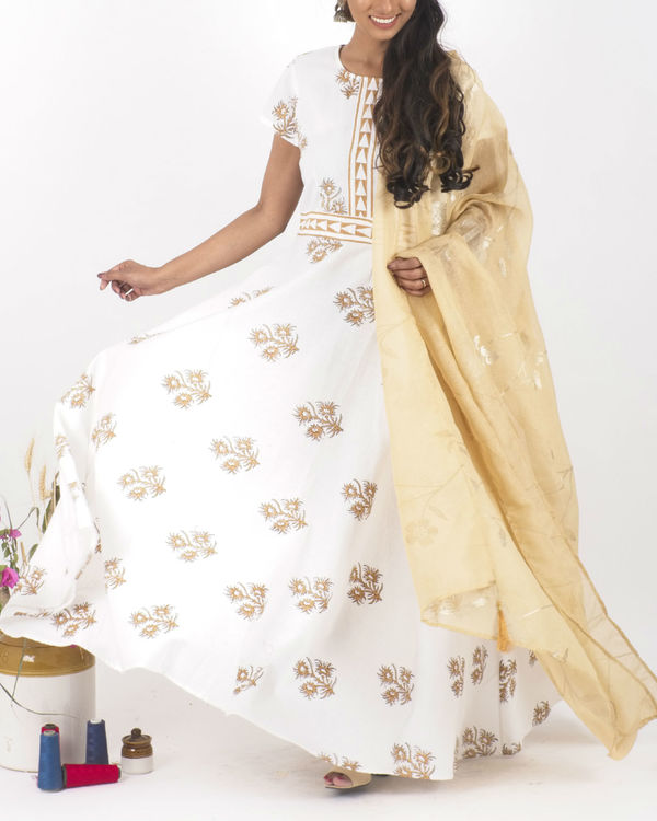 Desert bloom dress with dupatta