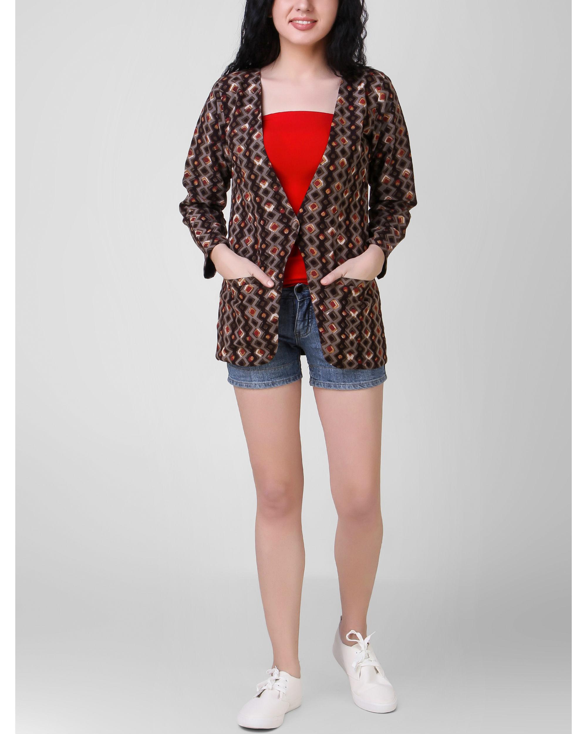 Brown dabu jacket