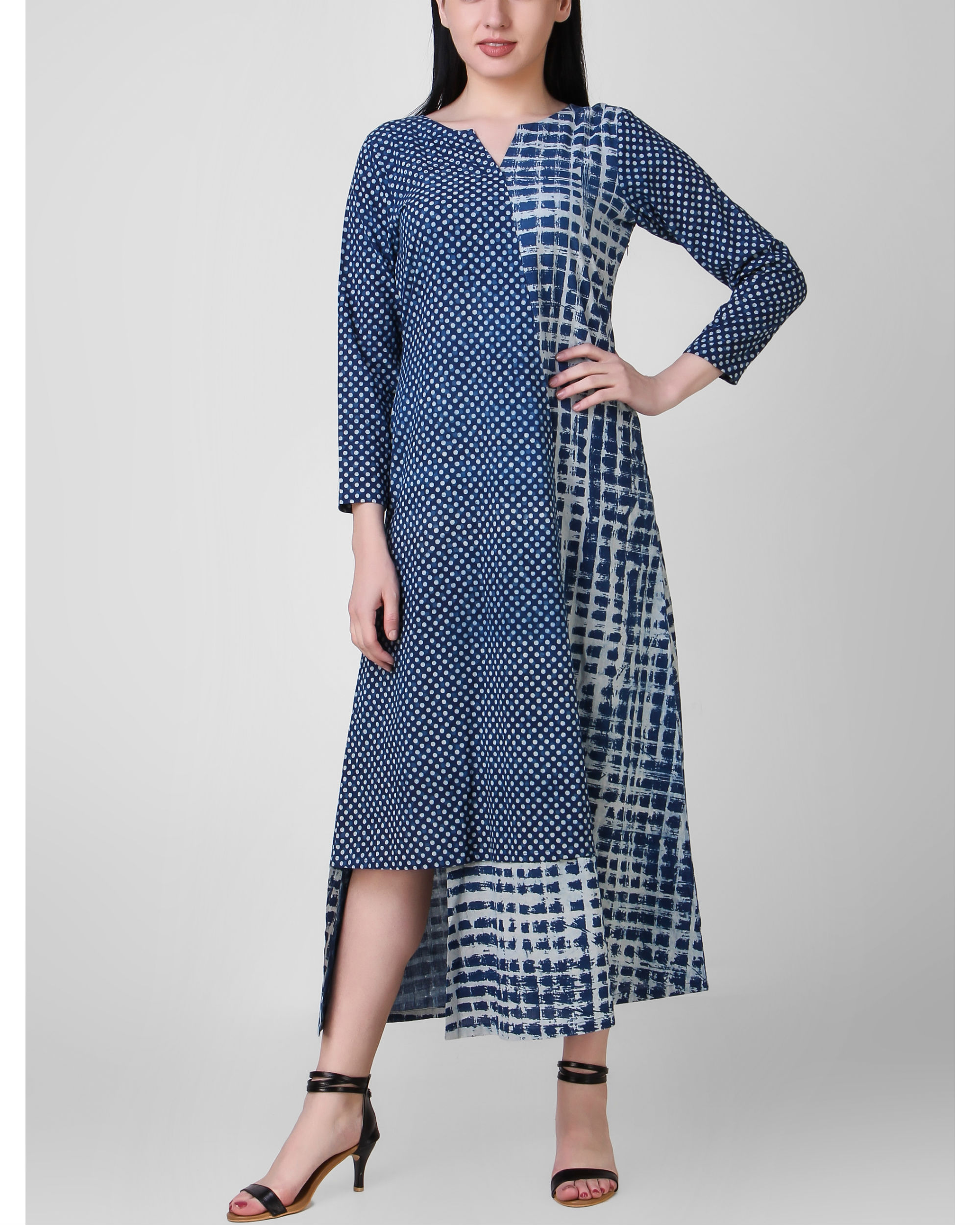 Indigo dabu dress