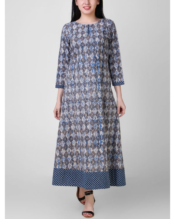Indigo border dress