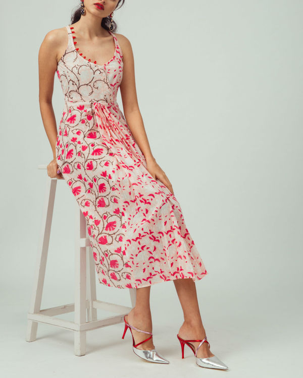 Cherry Blossom Pleated Dress
