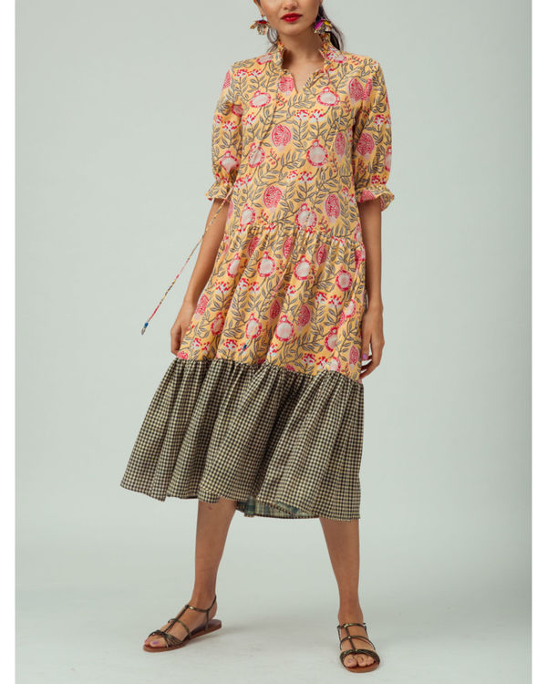 Tuscan anar tiered dress