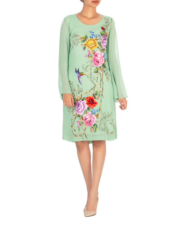 Georgette embroidered dress