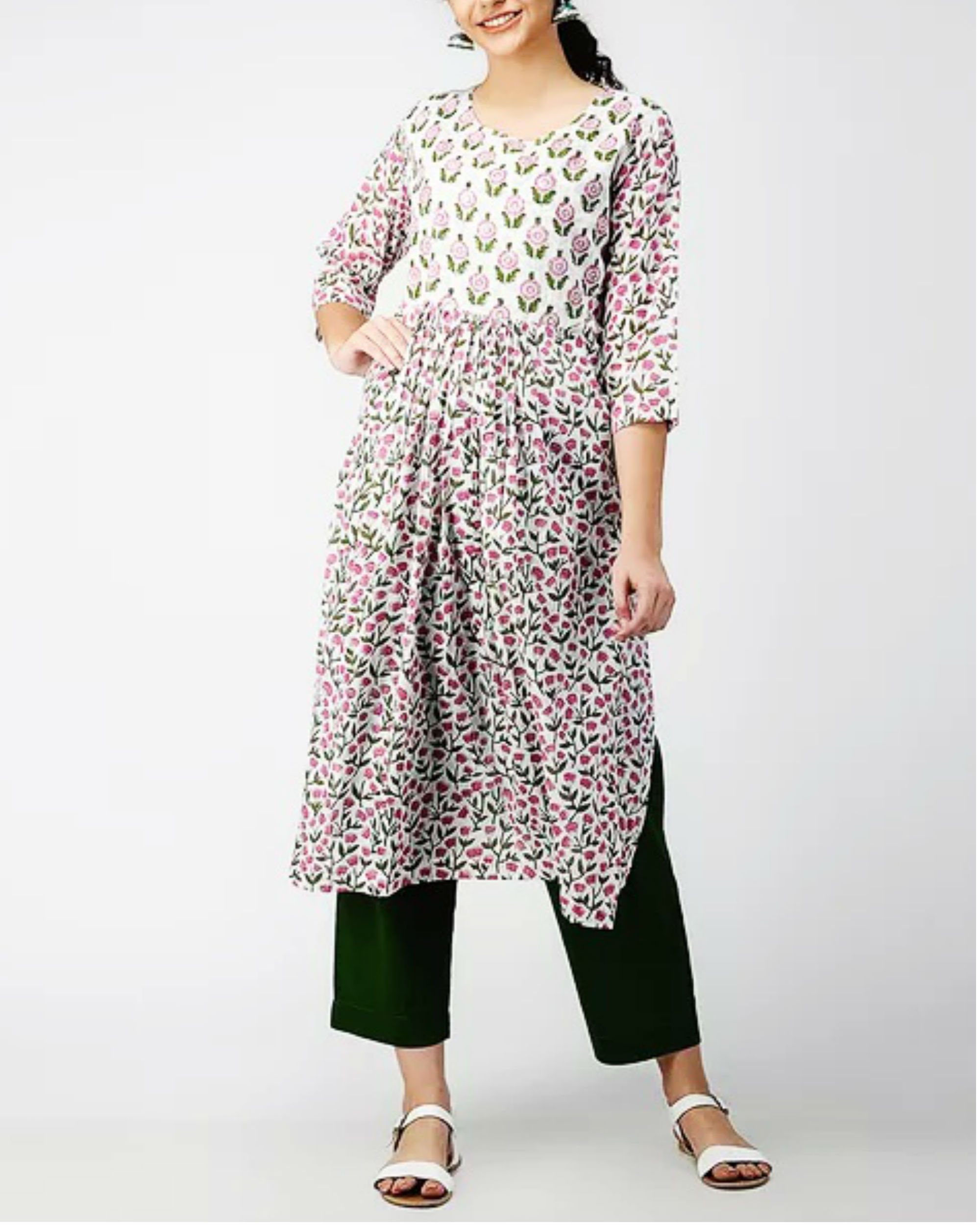 Dual Patch Side Slit Kurta