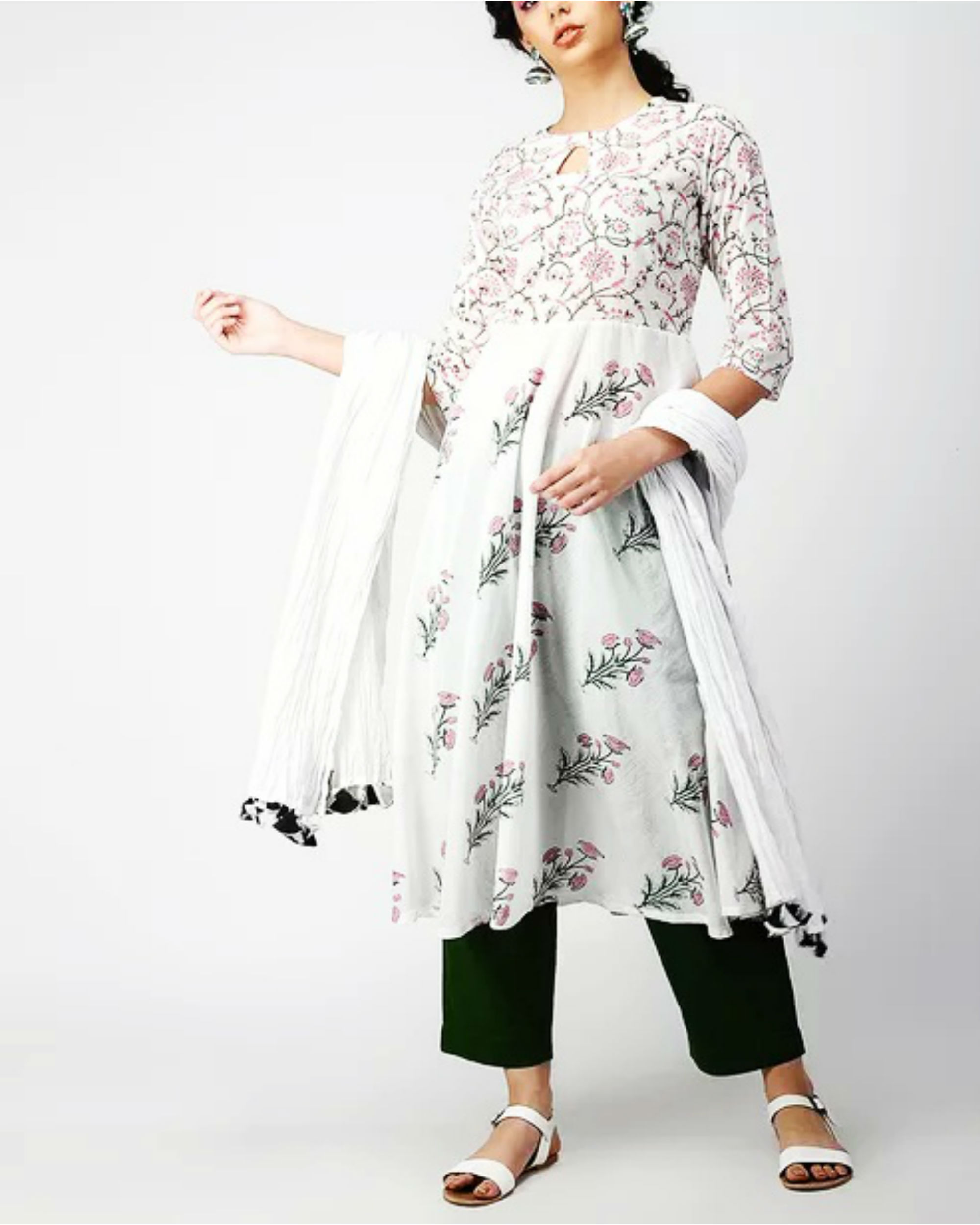 Dual Patch Fit and Flare Kurta