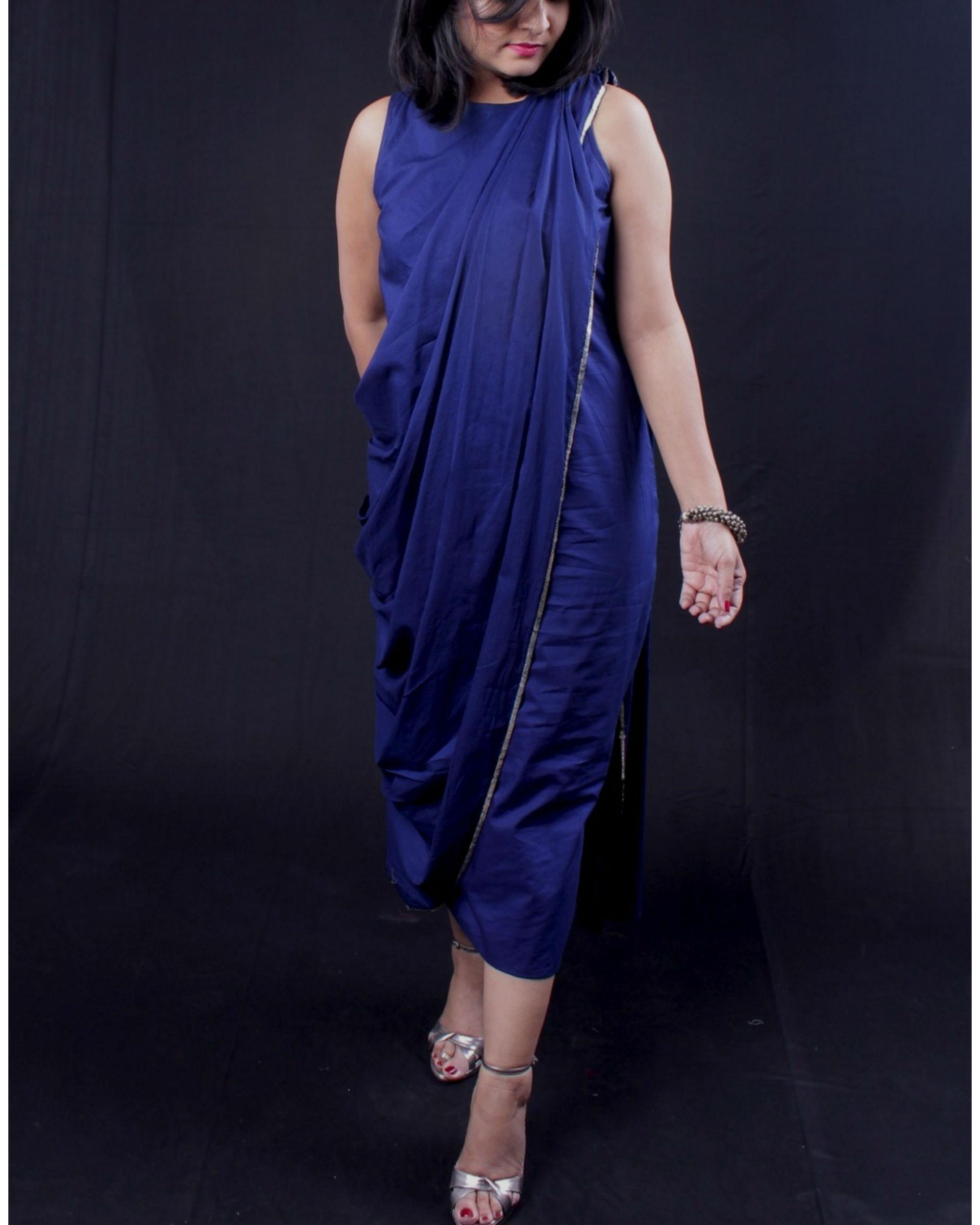Blue sari dress