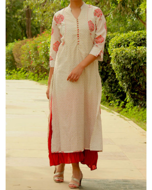 Red ombre maxi