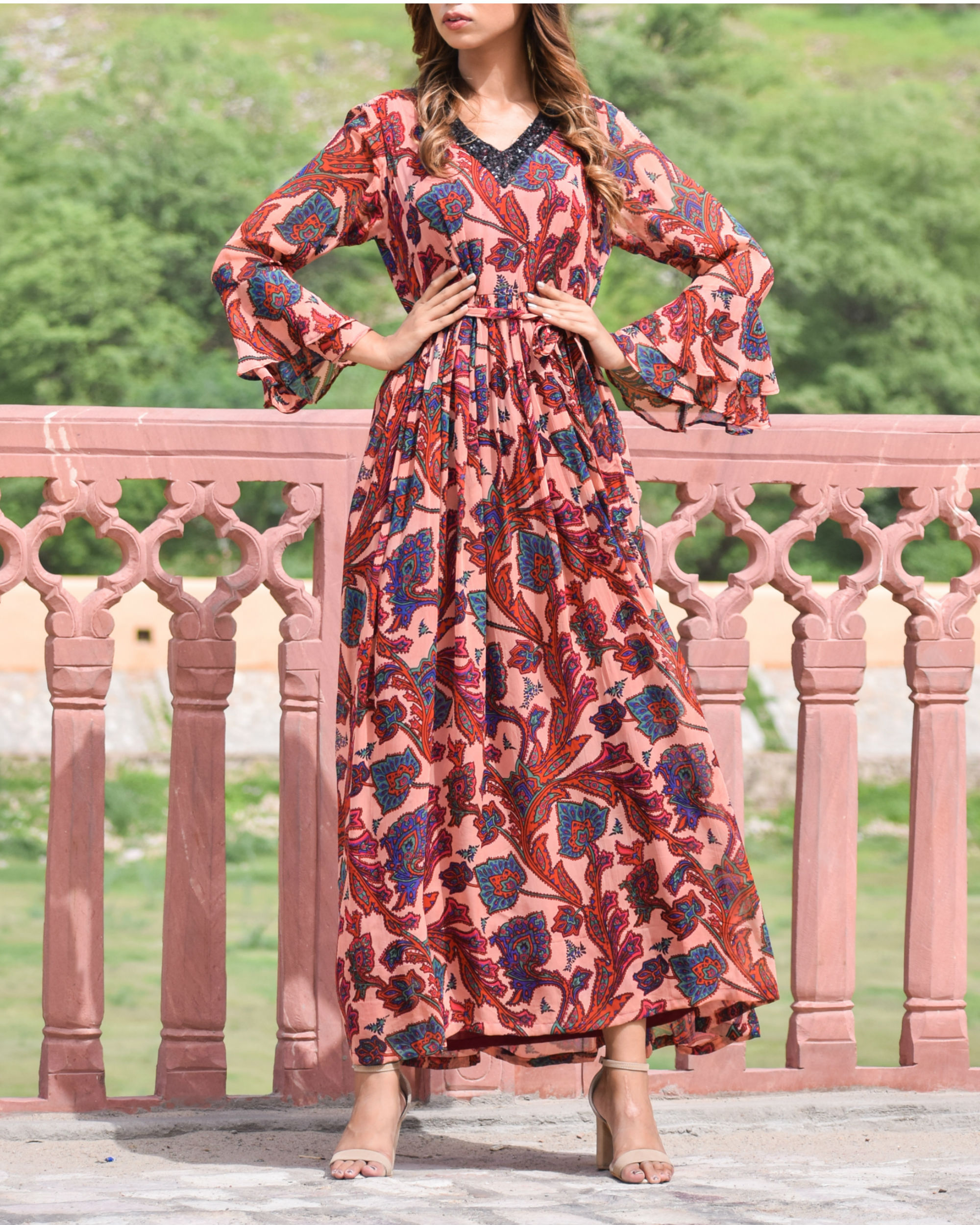 Red Georgette Dress