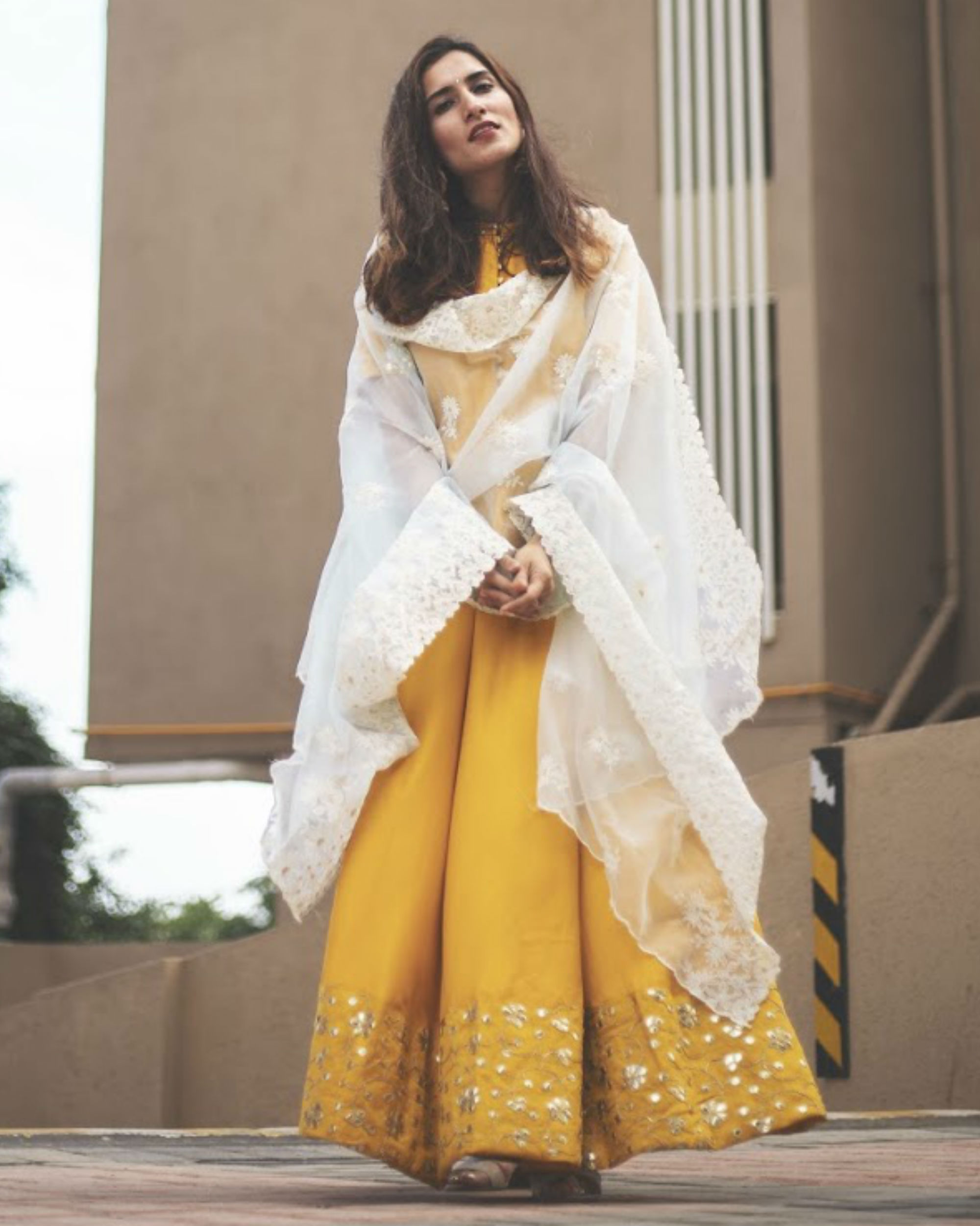 Golden Yellow Dress with Dupatta