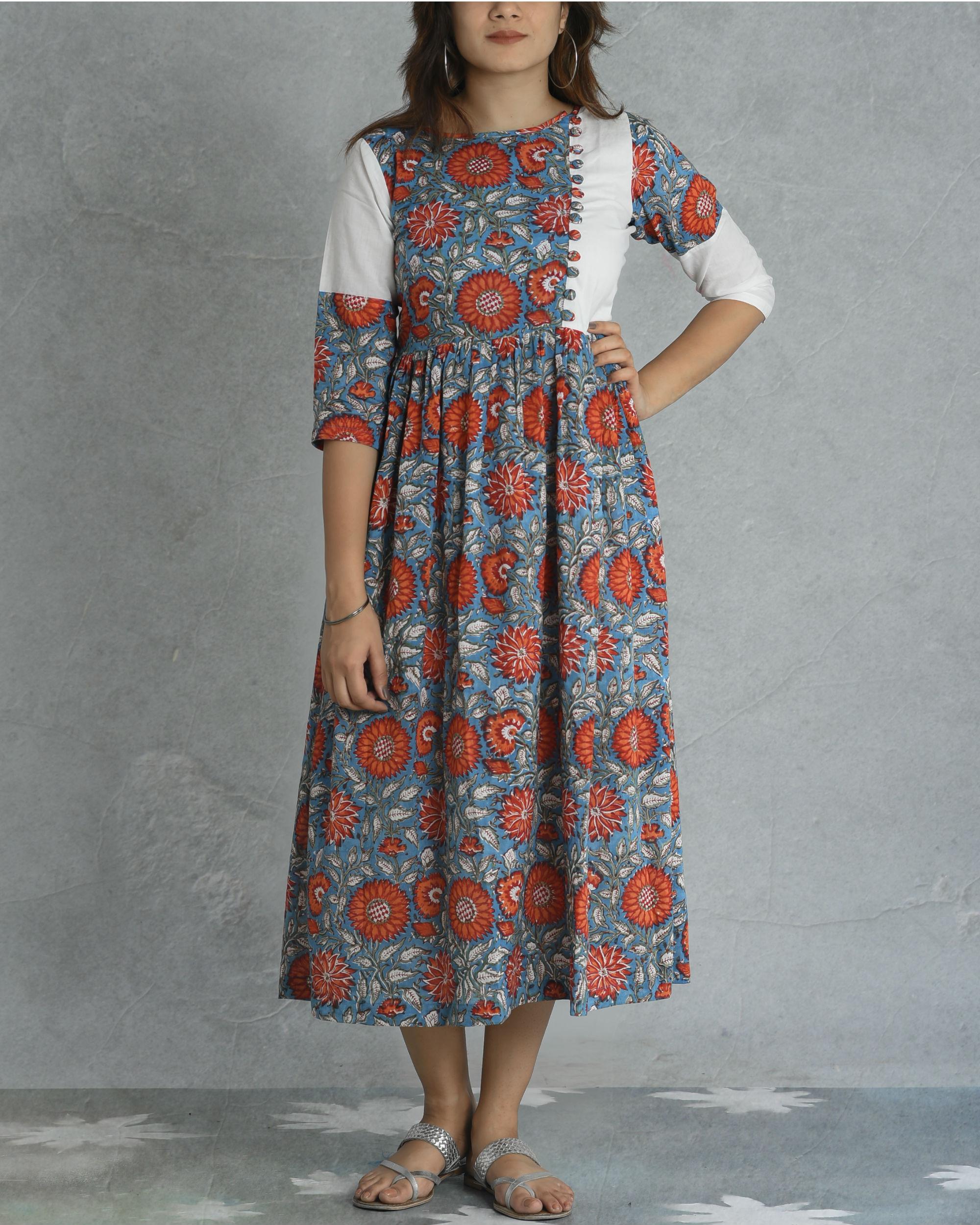 Floral block dress
