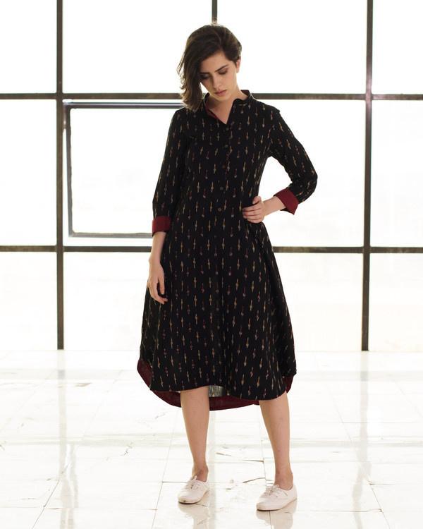 Black boho swing dress