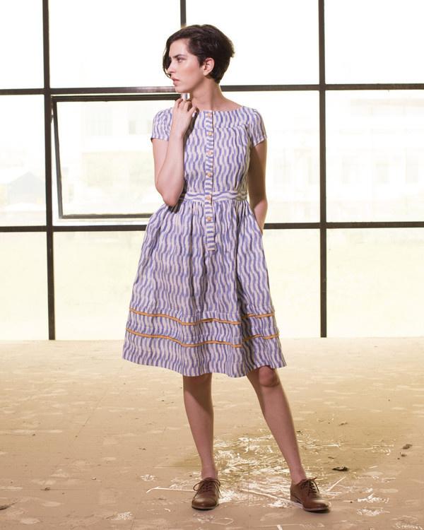 Chevron print seaside dress