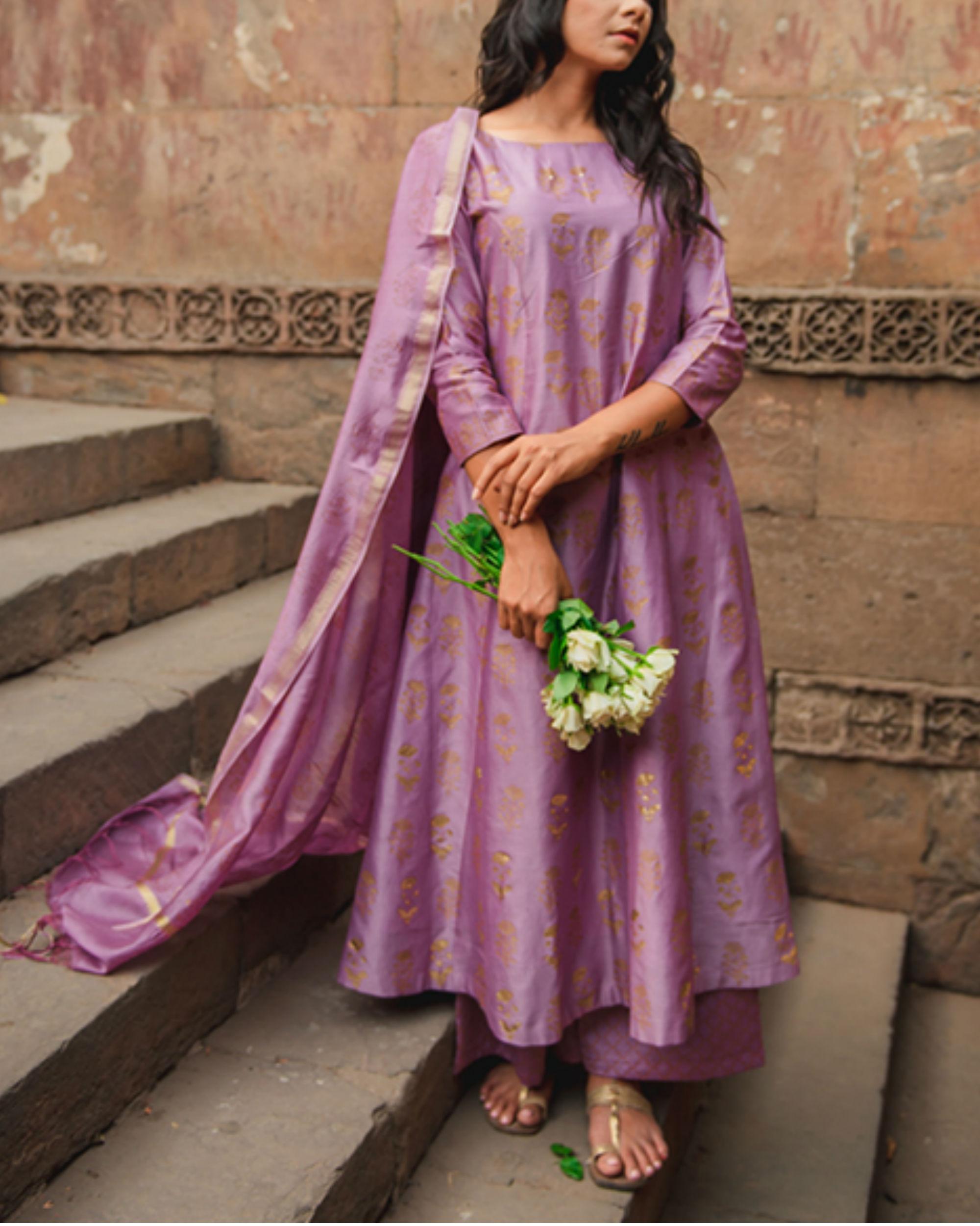 Mehar Ghera Kurta Set with Dupatta