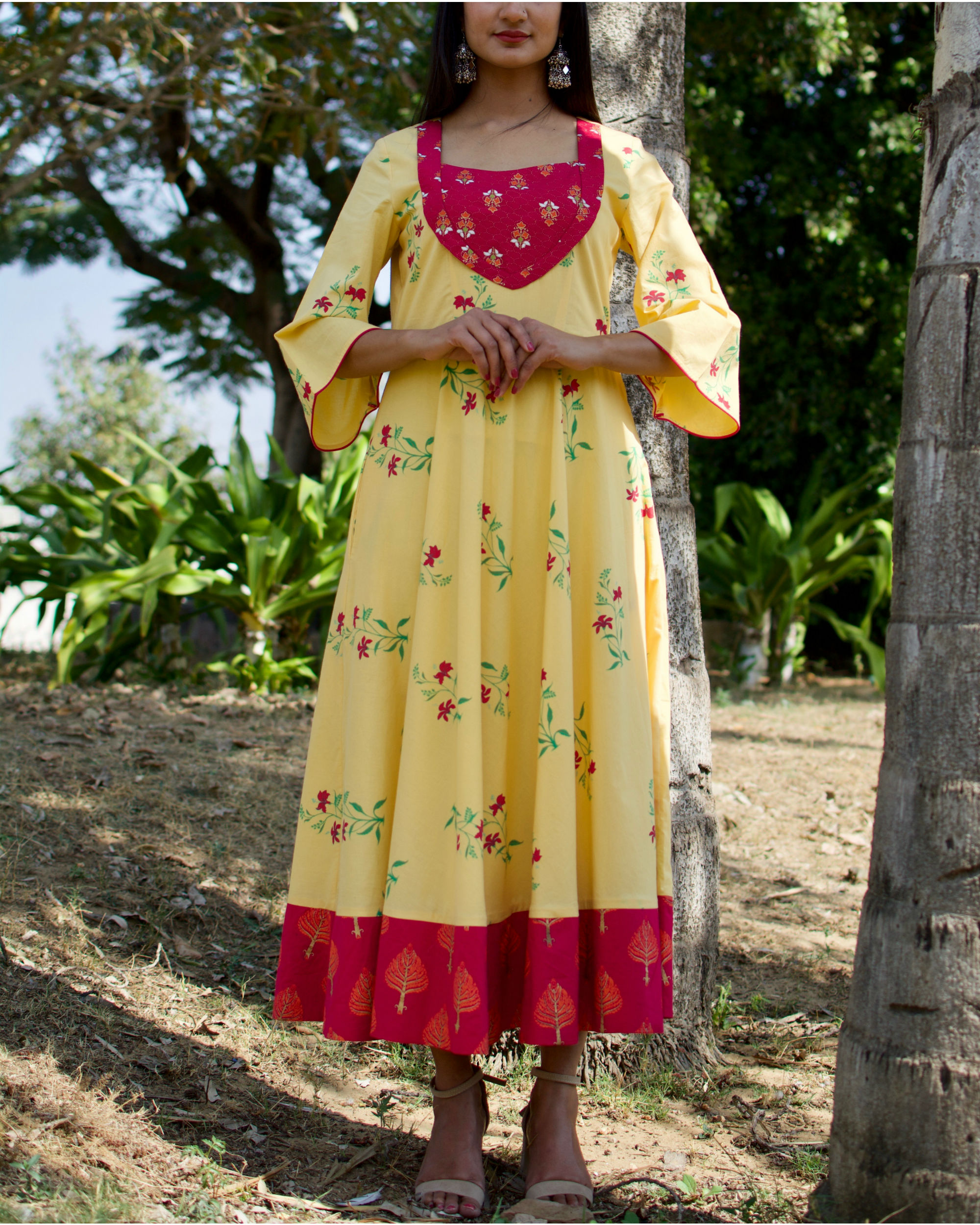 Pastel Yellow Flared Maxi