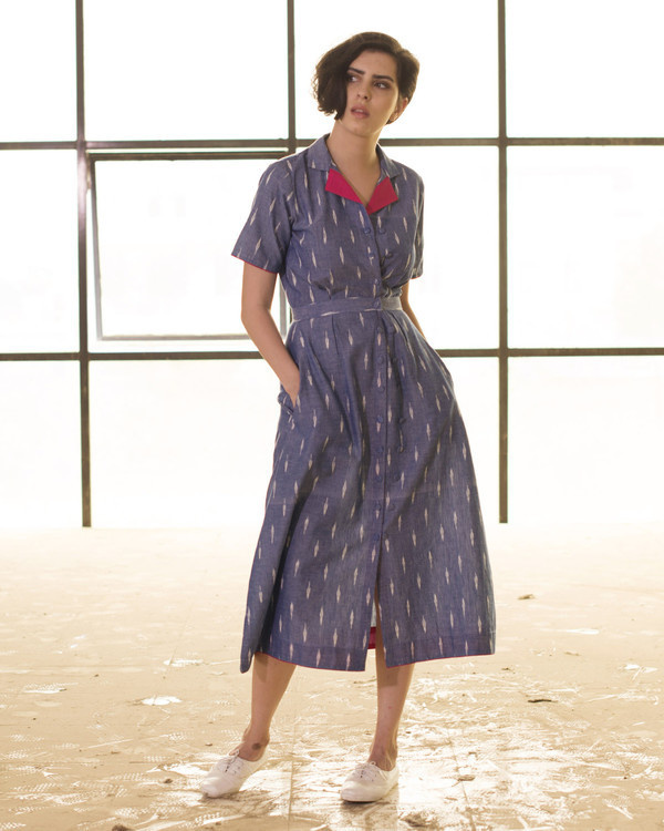 Vintage style double button dress