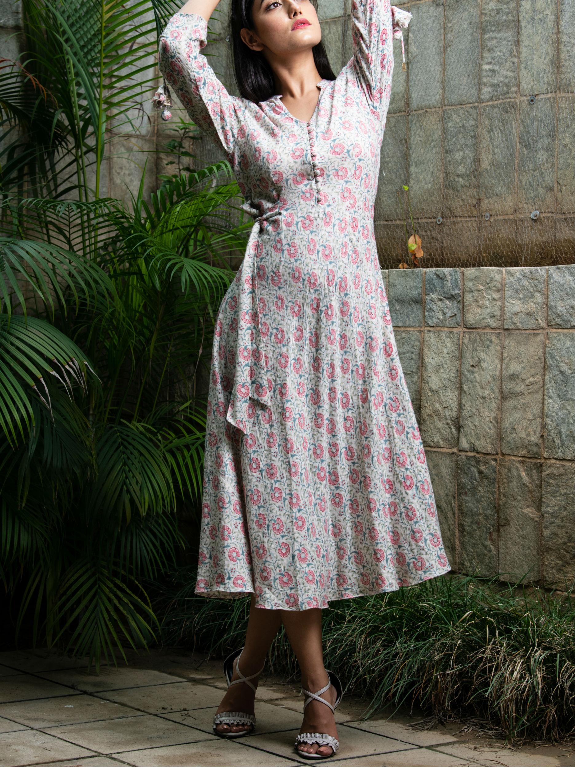 Cream swing dress