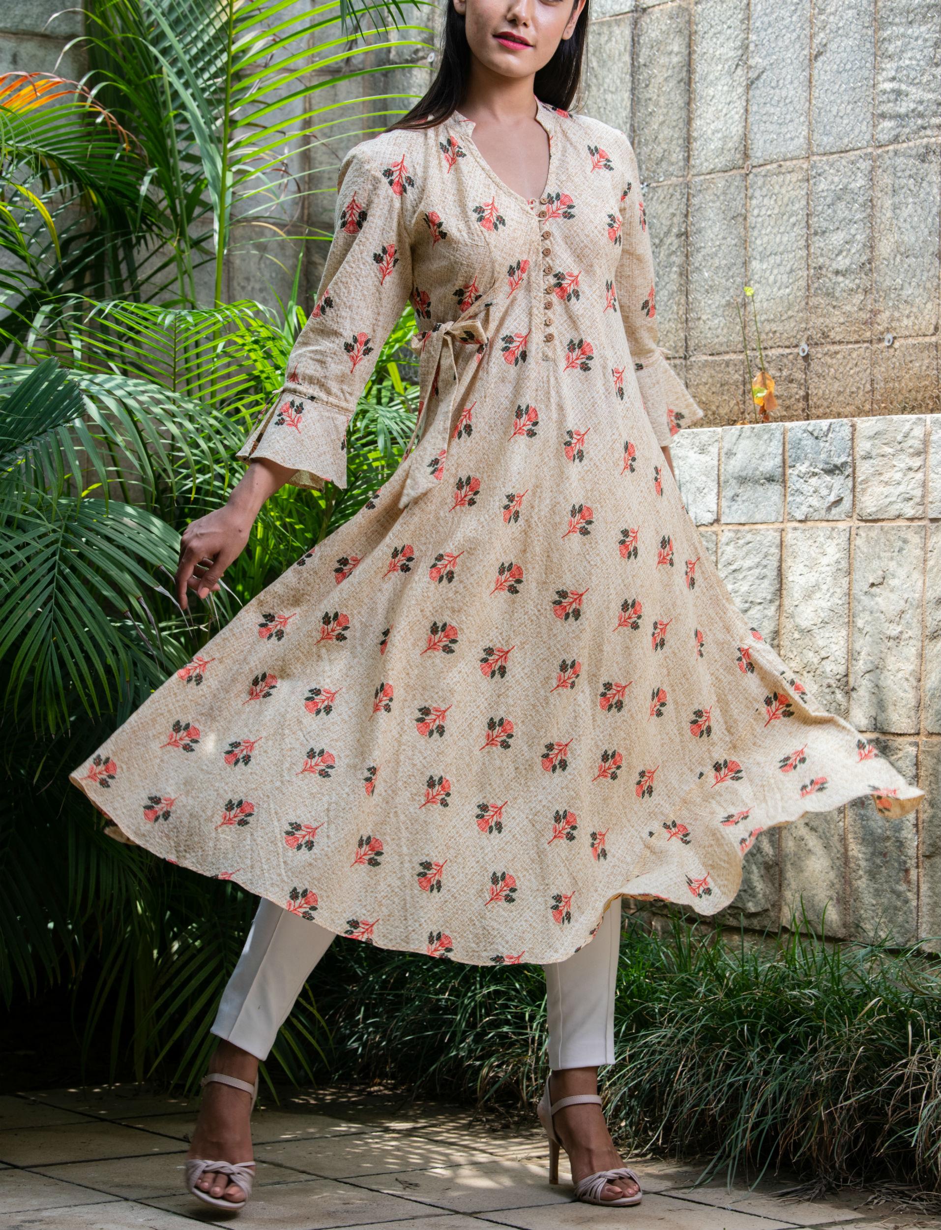 Textured swing dress