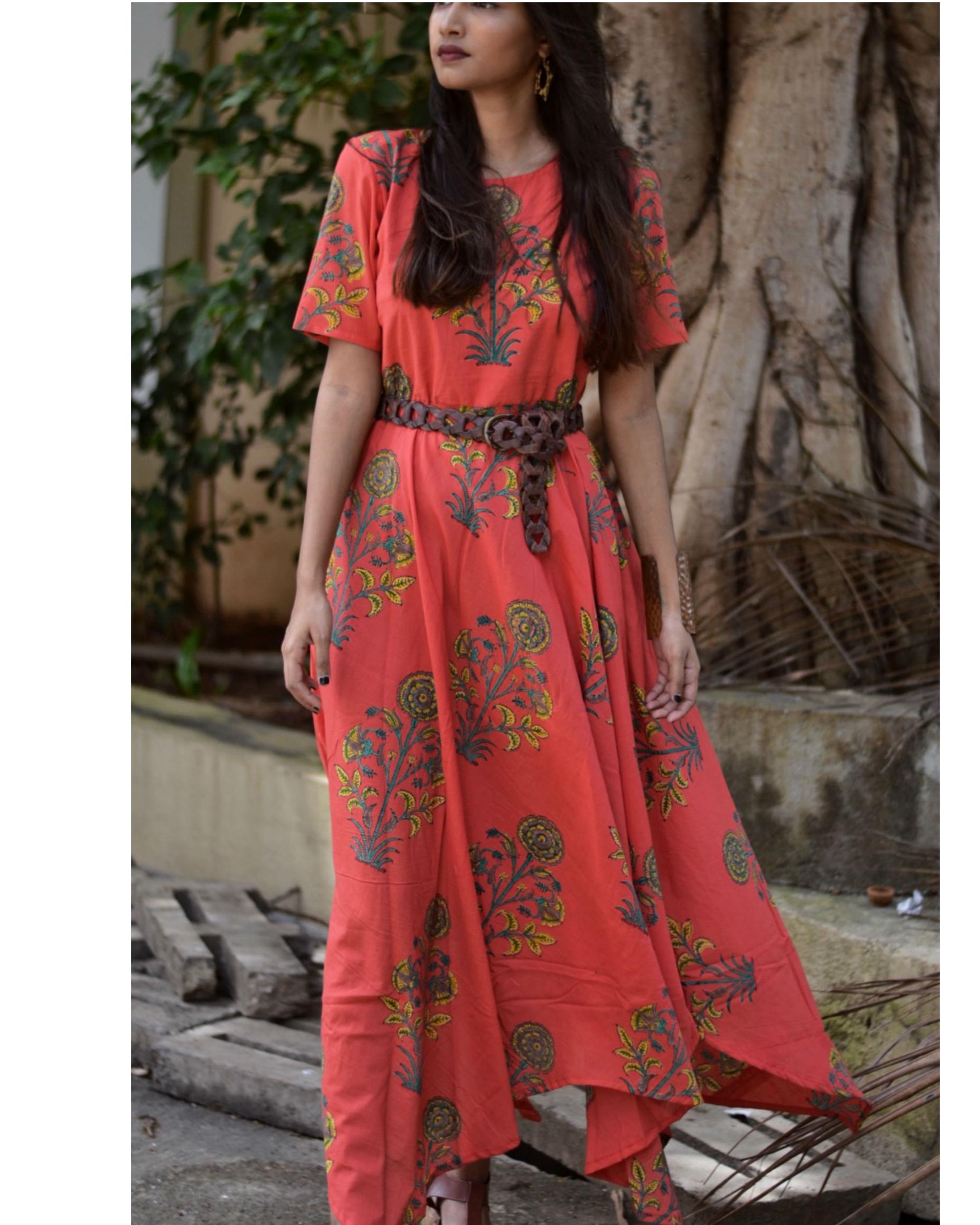 RED ART DRESS
