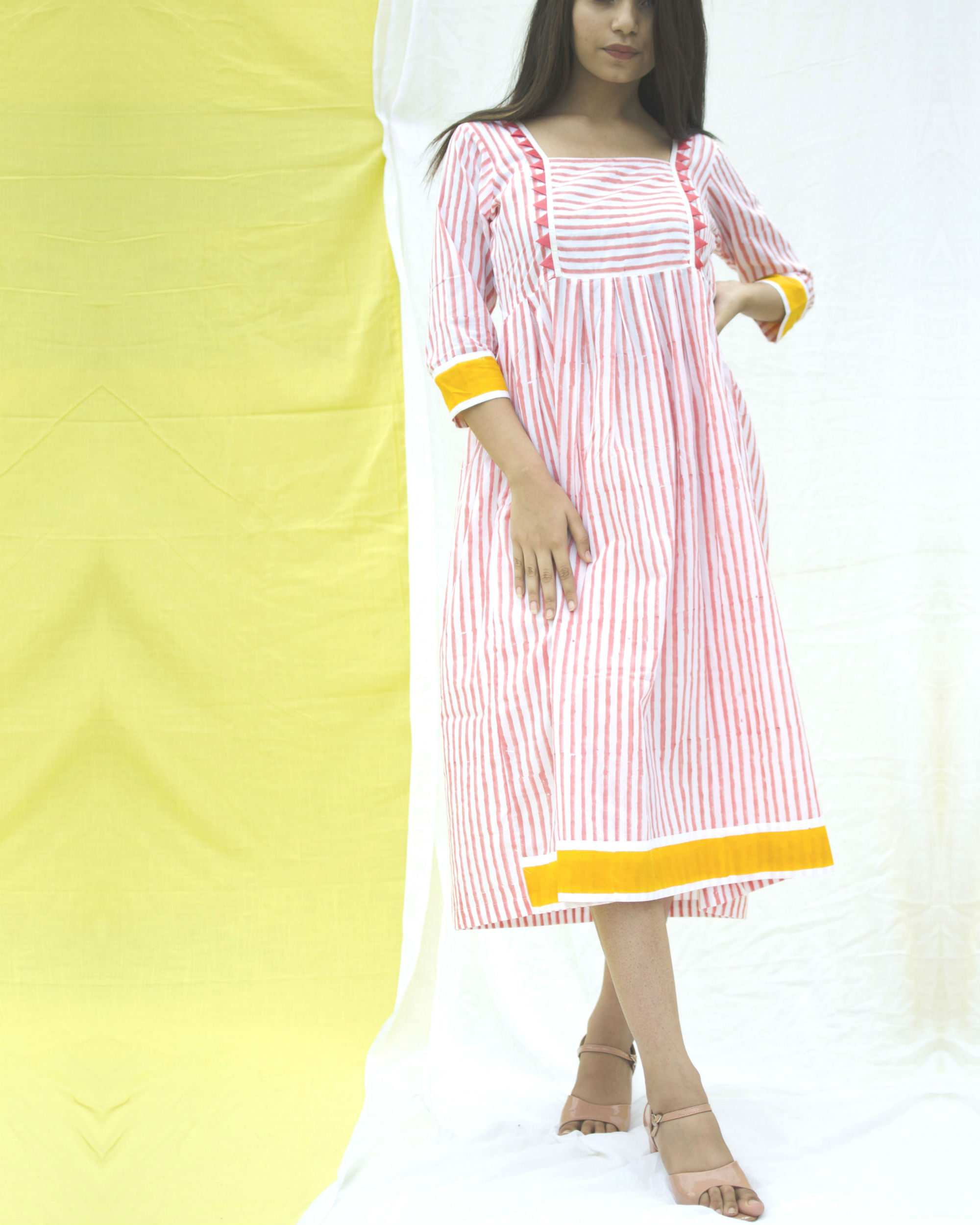 Cotton candy bordered dress
