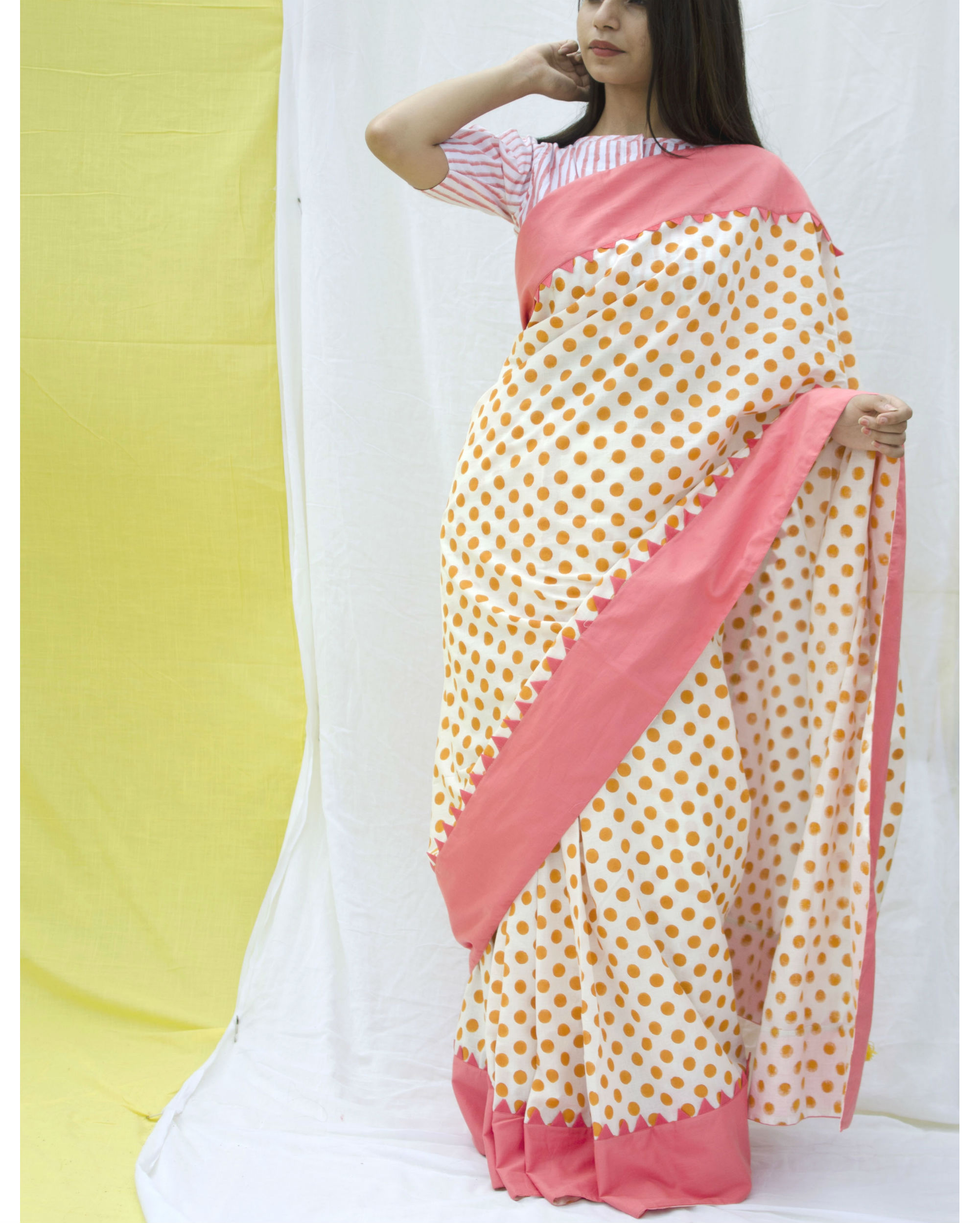 Candy crush polka sari