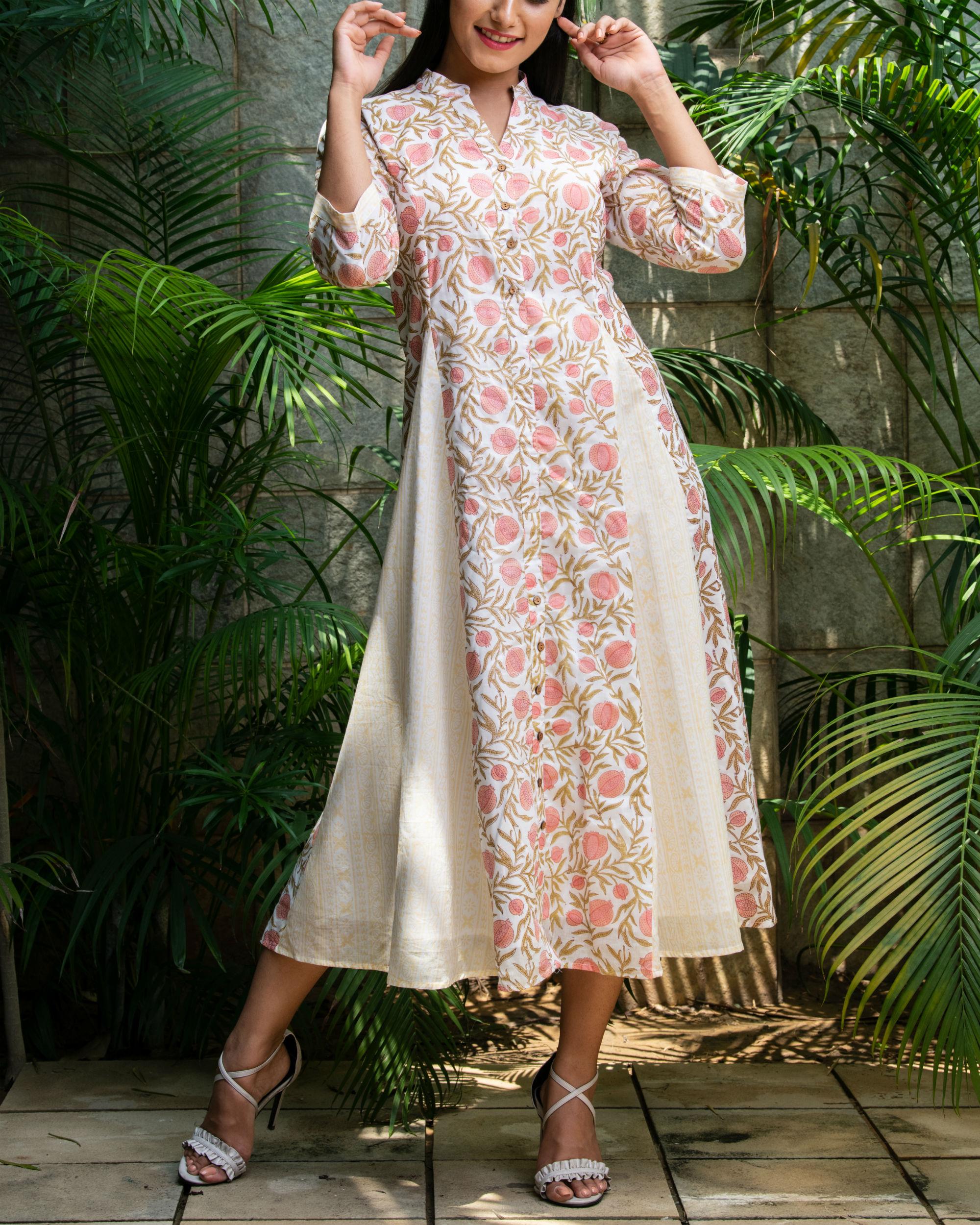 Pomegranate print kali dress