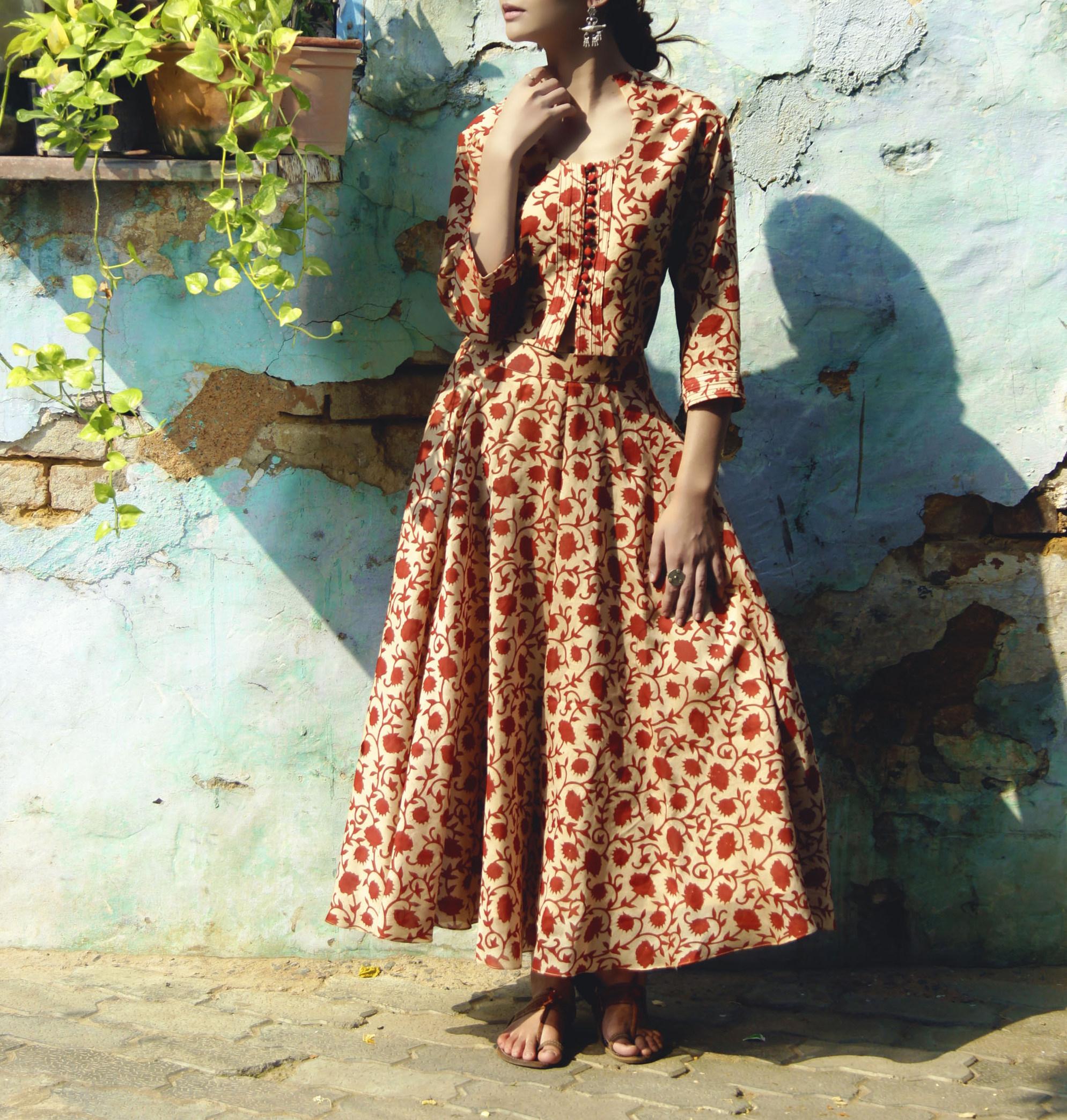 Noorah blouse and skirt set