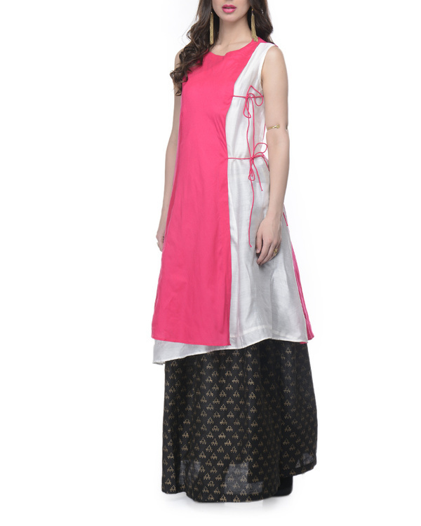 Pink and white tunic