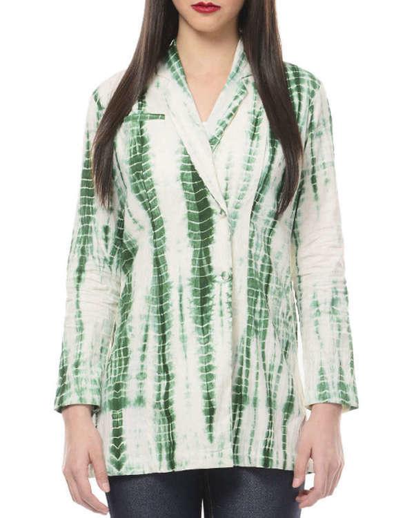 Green tye and dye jacket
