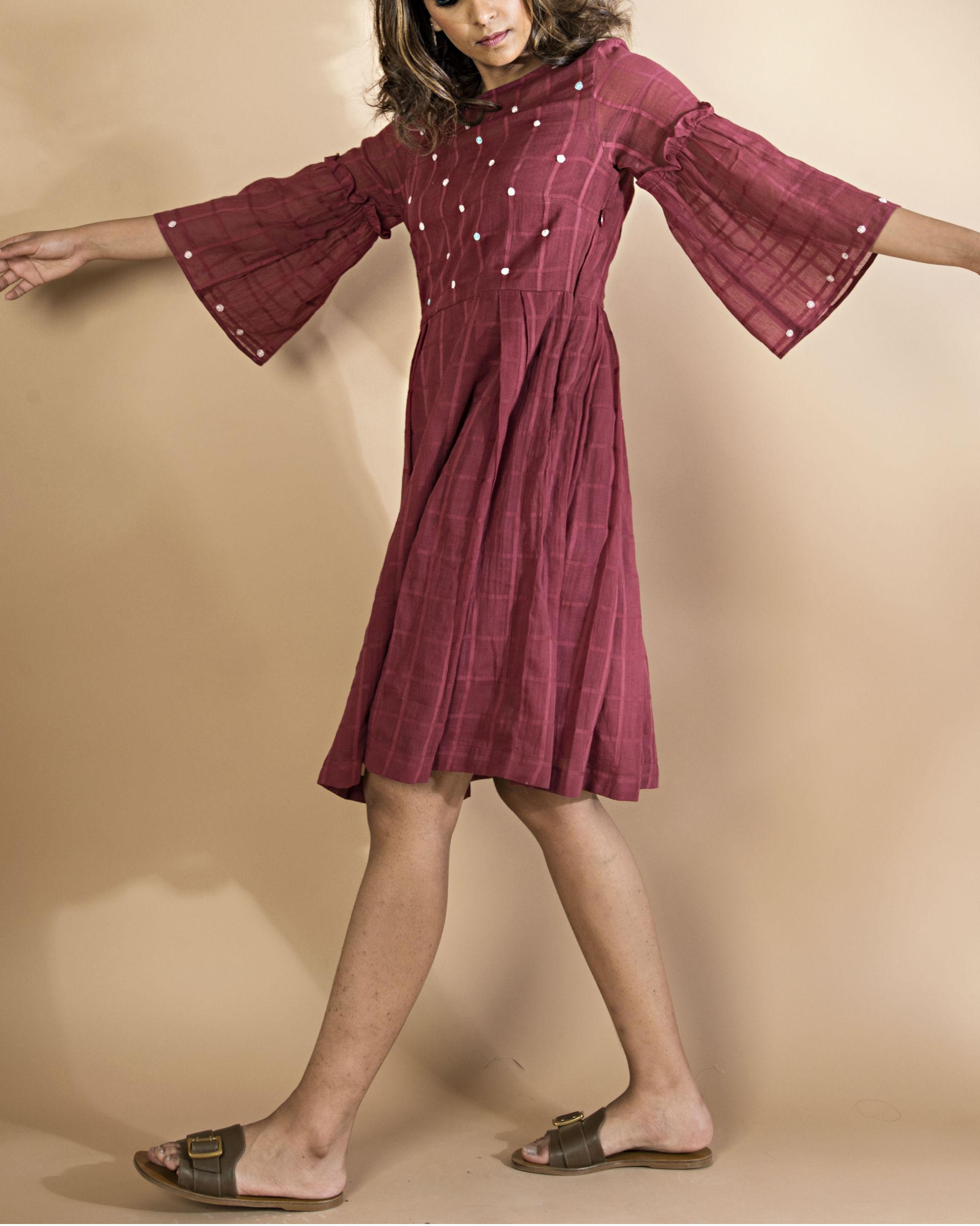 Polka dot skater dress