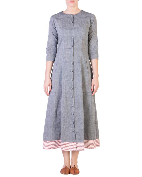 Grey mangalgiri pannelled a-line tunic