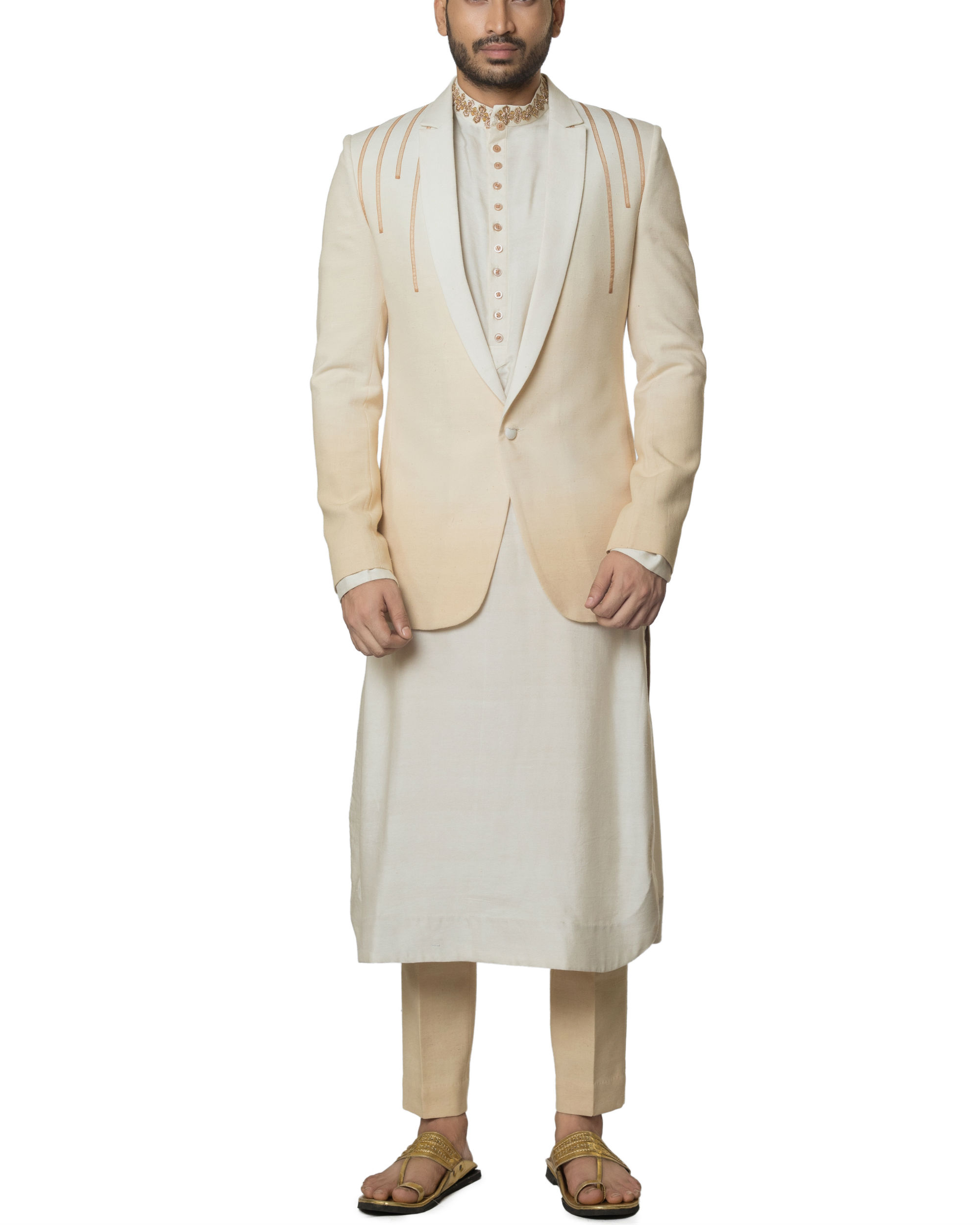 Khadi cotton Shaded kurta set