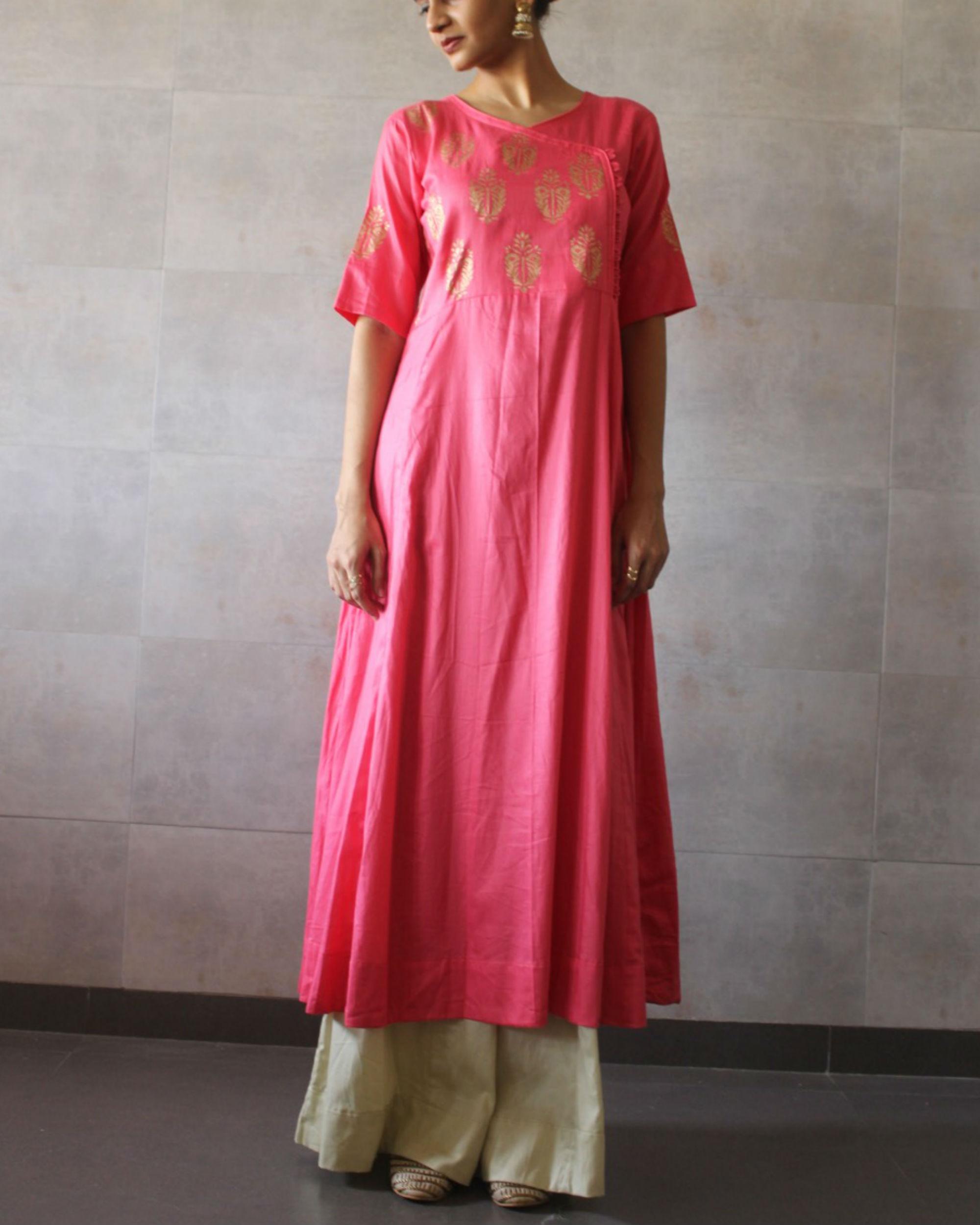 Pink kediya style kurta