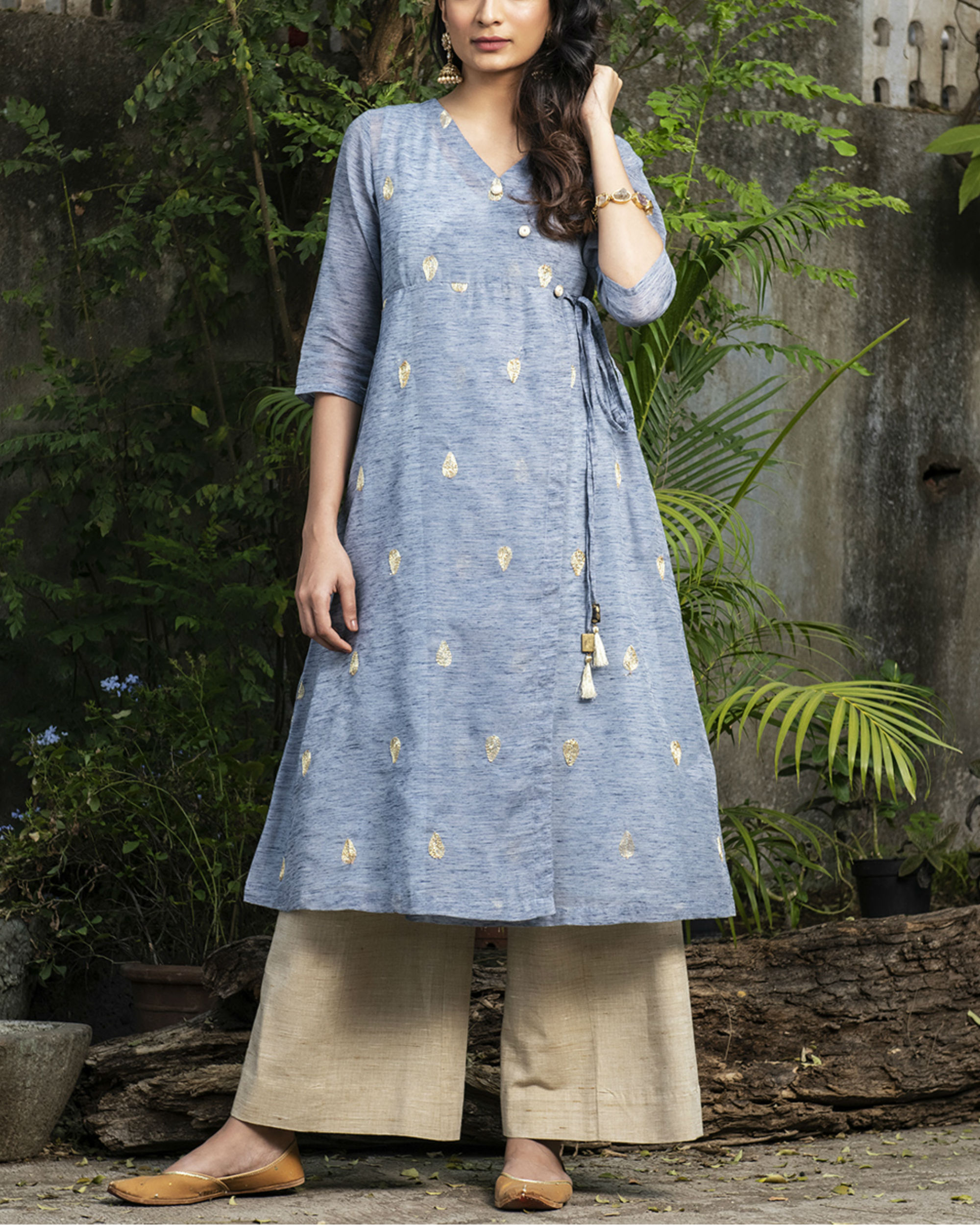 Dew drop wrap kurta